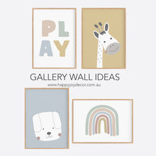 Load image into Gallery viewer, Kids Play Print - Playroom Decor - Happy Joy Decor