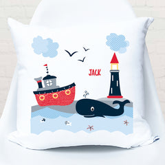 Nautical personalised cushion - Happy Joy Decor