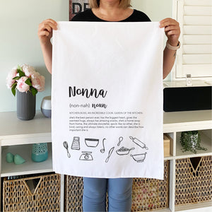 Nonna Definition Personalised Tea Towel - Mothers day gifts - Happy Joy Decor