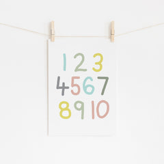 Kids Numbers Print - Happy Joy Decor