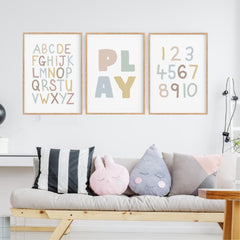 Playroom Essential Printable Set - Kids neutral printables - Happy Joy Decor