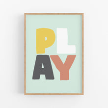 Load image into Gallery viewer, Play Kids Print - Happy Joy Decor