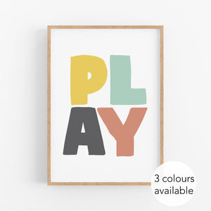 Play Kids Print - Happy Joy Decor