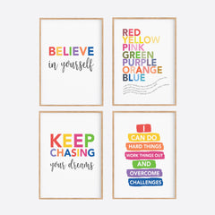 Rainbow Playroom Inspiration Set - Happy Joy Decor