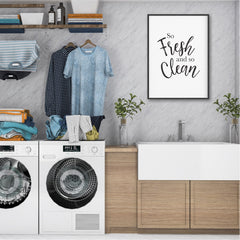 So Fresh & So Clean Laundry Print - Laundry Printable - Happy Joy Decor