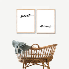 Sweet Dreams Printable Wall Art - Happy Joy Decor