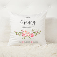 Load image into Gallery viewer, Belongs To Personalised Cushion - Mothers day gifts - Happy Joy Decor