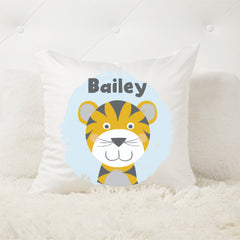 Tiger personalised kids cushion