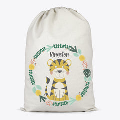 Tiger Personalised Toy Storage Bag - Happy Joy Decor