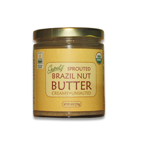 Sprouted Organic Raw Unsalted Brazil Nut Butter