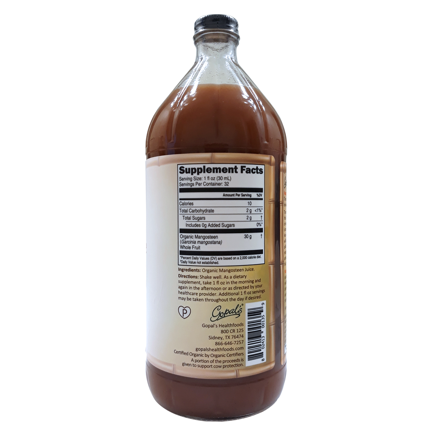 Organic Mangosteen One Superfuit Juice 32oz