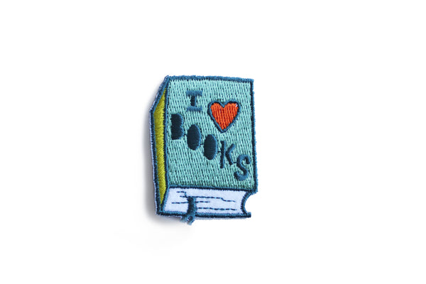 """I love books!"" Patch"