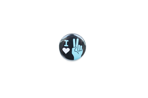 """I love peace"" Badge"
