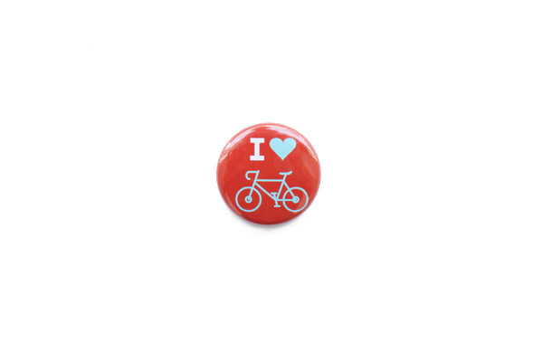 """I love bicycles"" Badge"
