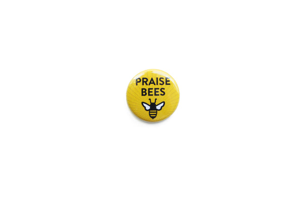 """Praise Bees"" Striped Badge"