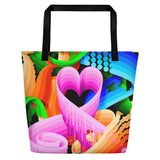 """Love Wins"" - 18x18 Beach Bag"