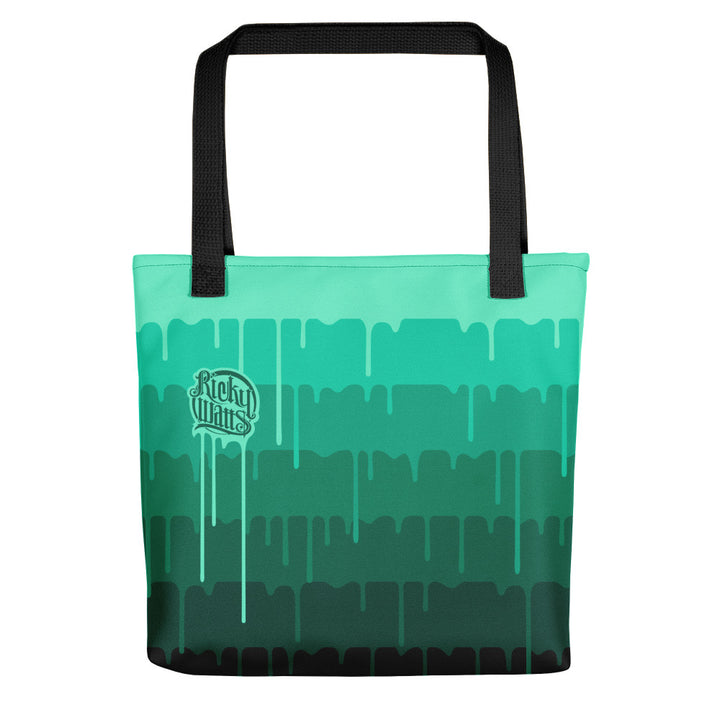 Melting Tote Teal - 15x15 Tote bag
