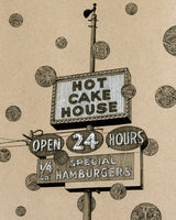 """Hot Cake House"" - 8""x10"" Original Drawing"