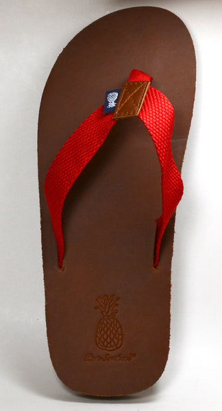 The Gentleman's Dark Red Strap Southern Leather Sandal