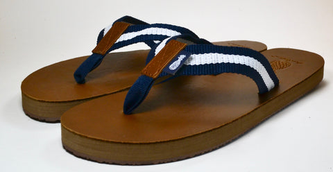 The Blue and White Strap Lady's Southern Leather Sandal