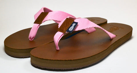The Lady's Light Pink Strap Southern Leather Sandal