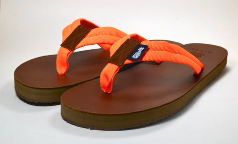 The Lady's Orange Strap Southern Leather Sandal