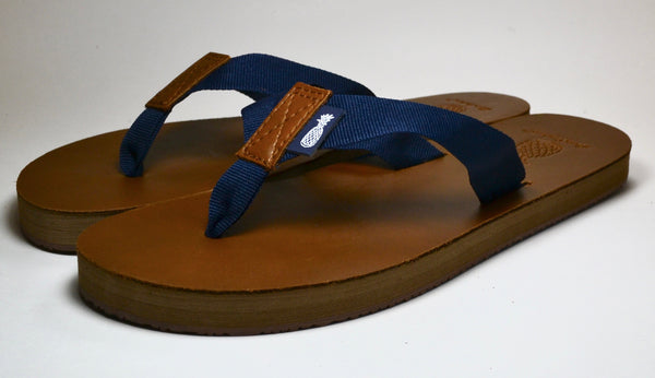 The Lady's Dark Blue Strap Southern Leather Sandal
