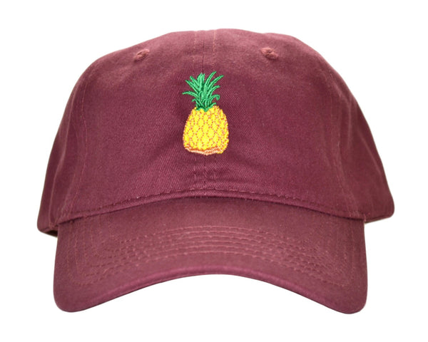 The Pineapple Maroon Hat