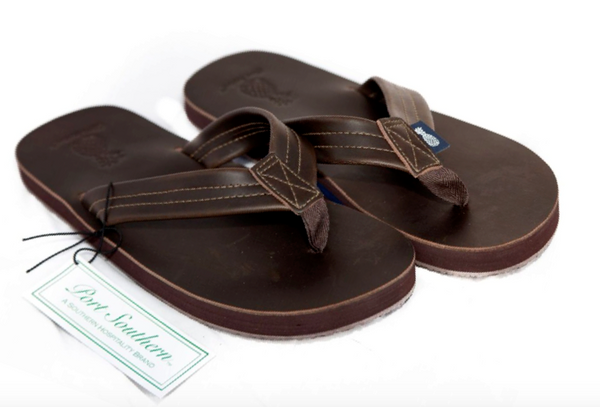The Gentleman's Southern Leather Sandal - Coffee