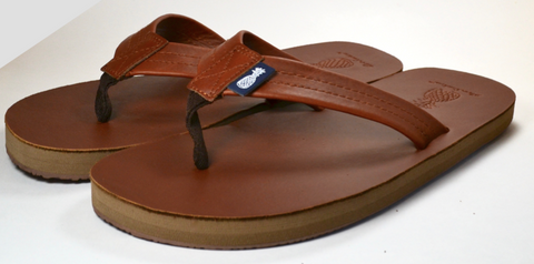 The Gentleman's Southern Leather Sandal - Sweet Tea