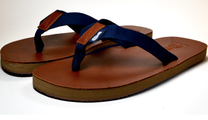 The Gentleman's Dark Blue Strap Southern Leather Sandal