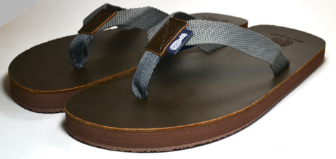 The Gentleman's Grey Strap Southern Leather Sandal