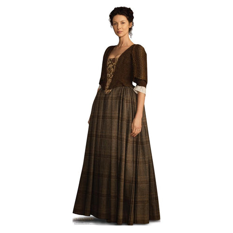Outlander Claire Fraser Life-Size Standee, Scottish Outfit