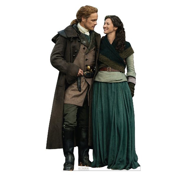 Jamie and Claire Fraser Colonial America Life-Size Standee from Outlander
