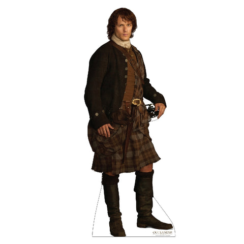 Jamie Fraser in Scottish Kilt Life-Size Standee from Outlander