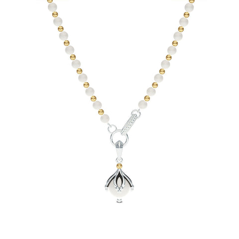 Outlander Pearl Pendant Necklace designed by BIXLER