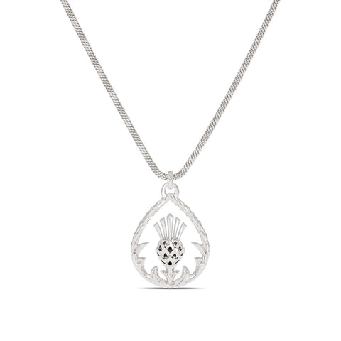 Outlander Open Center Thistle Pendant Necklace designed by BIXLER