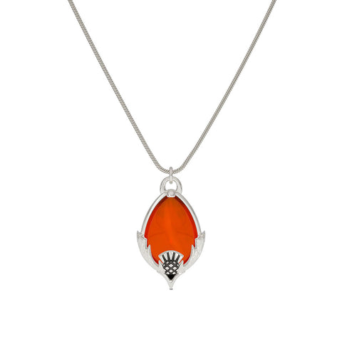 Outlander Carnelian Pendant Necklace designed by BIXLER