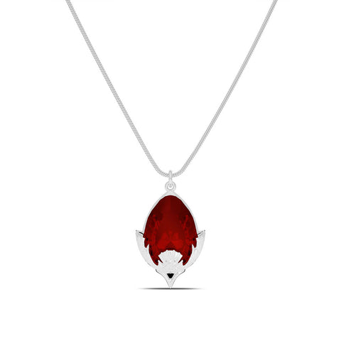 Outlander Ruby Pendant Necklace designed by BIXLER