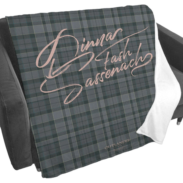 Dinna Fash Sassenach Blanket from Outlander
