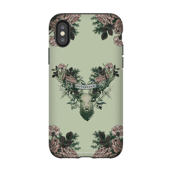 Outlander Crest Floral Phone Case
