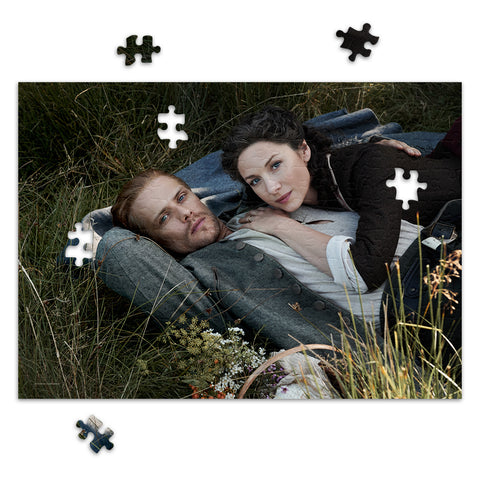 252-Piece Claire and Jamie Lying in Fraser's Ridge Field Jigsaw Puzzle from Outlander