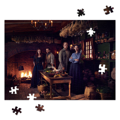 252-Piece Claire and Jamie at Home in Fraser's Ridge Jigsaw Puzzle from Outlander
