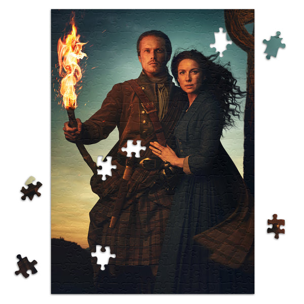 252-Piece Claire and Jamie Season 5 Key Art Jigsaw Puzzle from Outlander