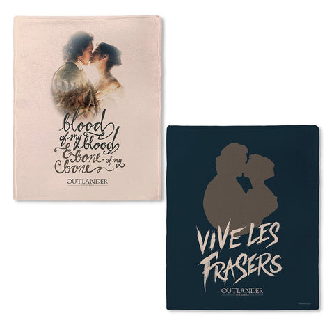 Outlander Vive Les Frasers Fleece Blanket