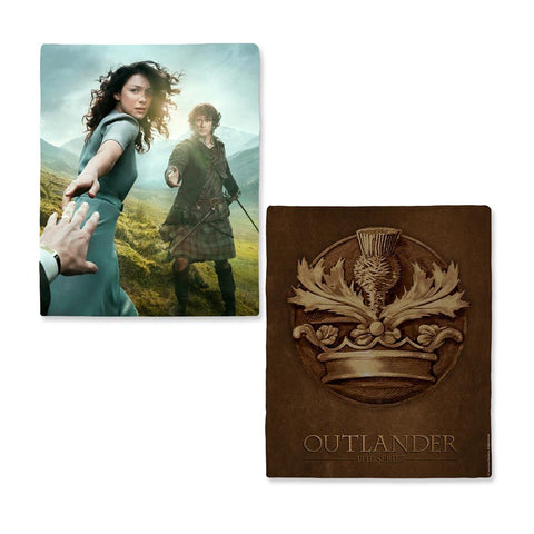 Outlander Hand Reach Fleece Blanket