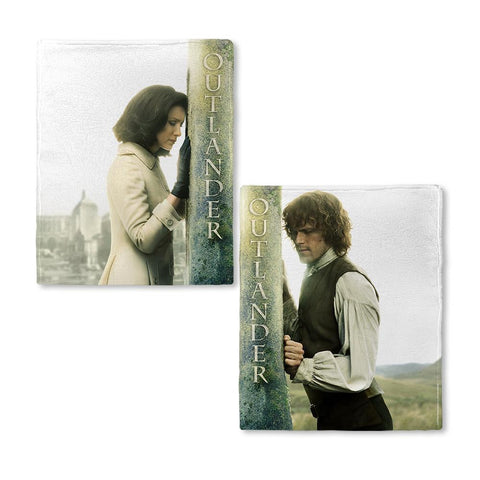 Outlander Jamie And Claire Season 3 Fleece Blanket