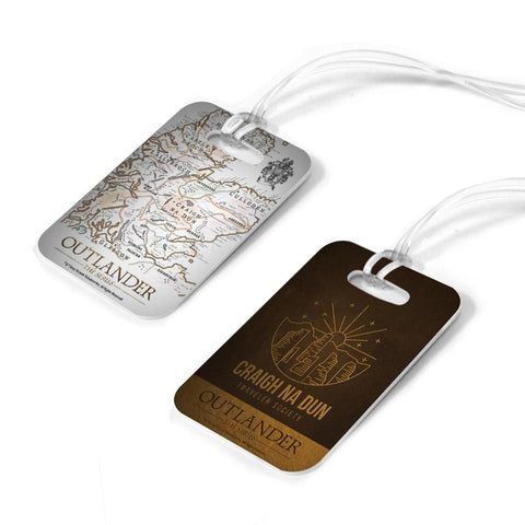 Outlander Craigh Na Dun and Map Luggage Tag Set
