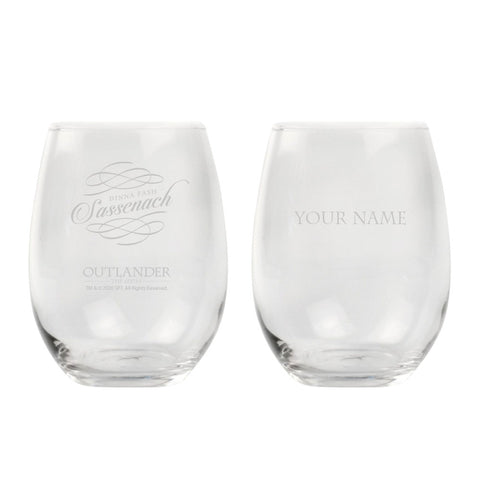 Sassenach Personalized Stemless Wine Glass from Outlander