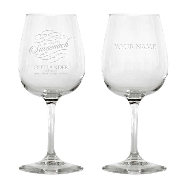 Sassenach Personalized Wine Glass from Outlander